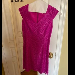 Lilly Pulitzer pink and silver dress